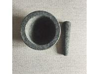 Large Grey Stone Pestle and Mortar