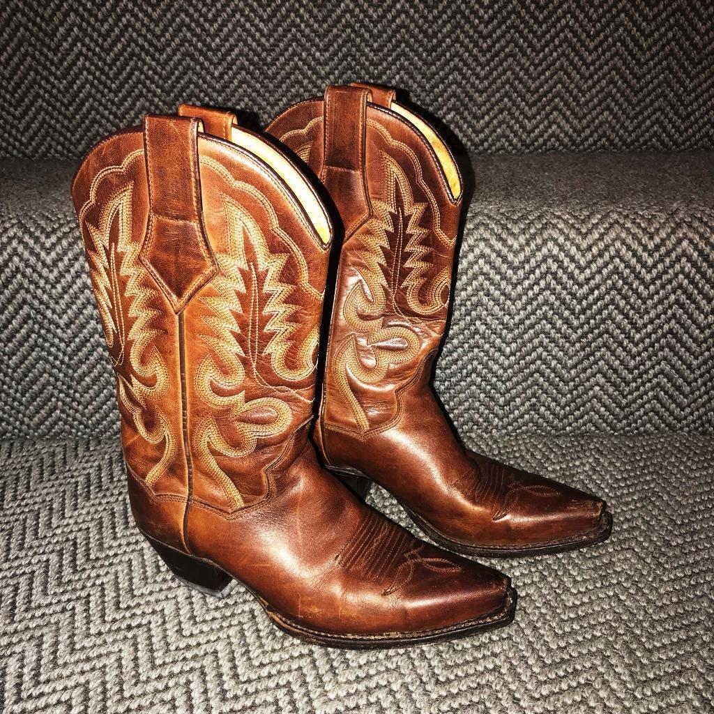f2aad16af34 Rare Brown leather R.soles Judy Rothchild western cowboy boots   in  Lewisham, London   Gumtree