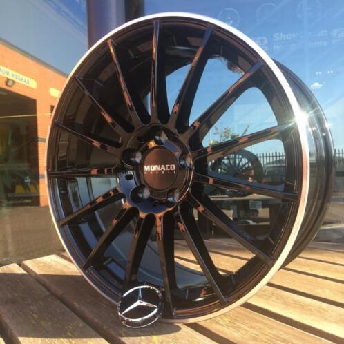 18 Inch Zwarte Mc1 Velgen En Banden Mercedes C Klasse W204