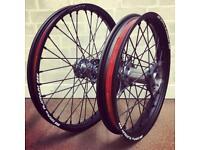 Crf250 Crf450 sm pro wheels Crf250/450 2013 onwards. Platinum rims titanium hubs