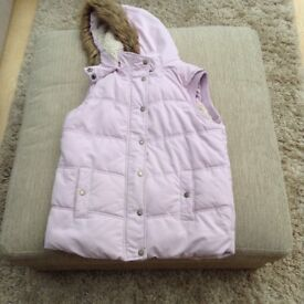 Girls pink Gilet age 12-13yrs from Fat Face