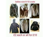 Womens coats 8-10