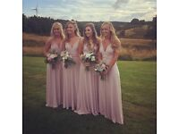 4 Bridesmaids Dresses from coast Blush Pink