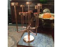 Modern Copper Candelabra, Candlestick