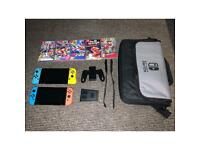 2x Nintendo switches, 5 games and accessories