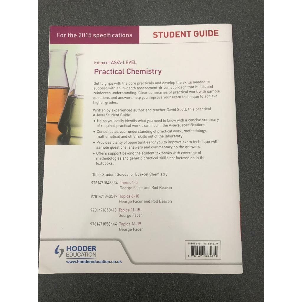 Edexcel A Level Students Guide to Practical Chemistry | in Leicester,  Leicestershire | Gumtree