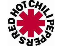 RED HOT CHILI PEPPERS - FLOOR STANDING - O2 ARENA - SUN 18/12 - £115!