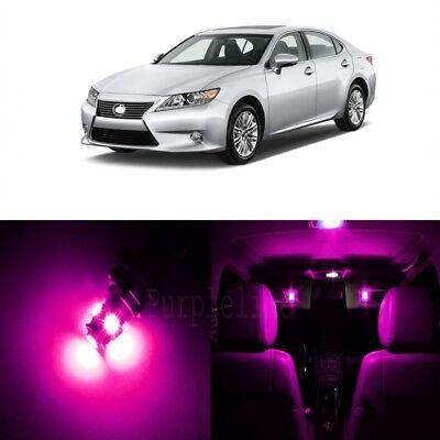 16 x Ultra Pink LED Interior Lights For 2013 - 2015 Lexus ES350 ES300h + TOOL