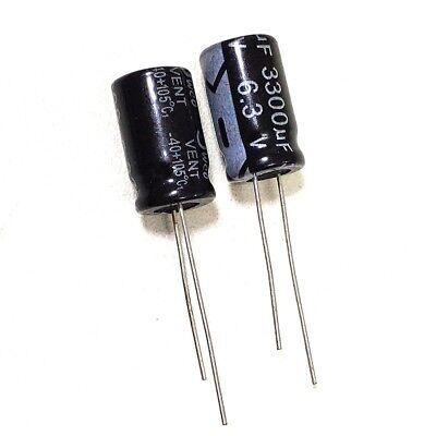 10pcs 6.3v 3300uf 6.3volt 3300mfd Electrolytic Capacitor 1016