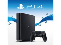 Playstation 4 - Very Good Condition, used, black, controller, leads.