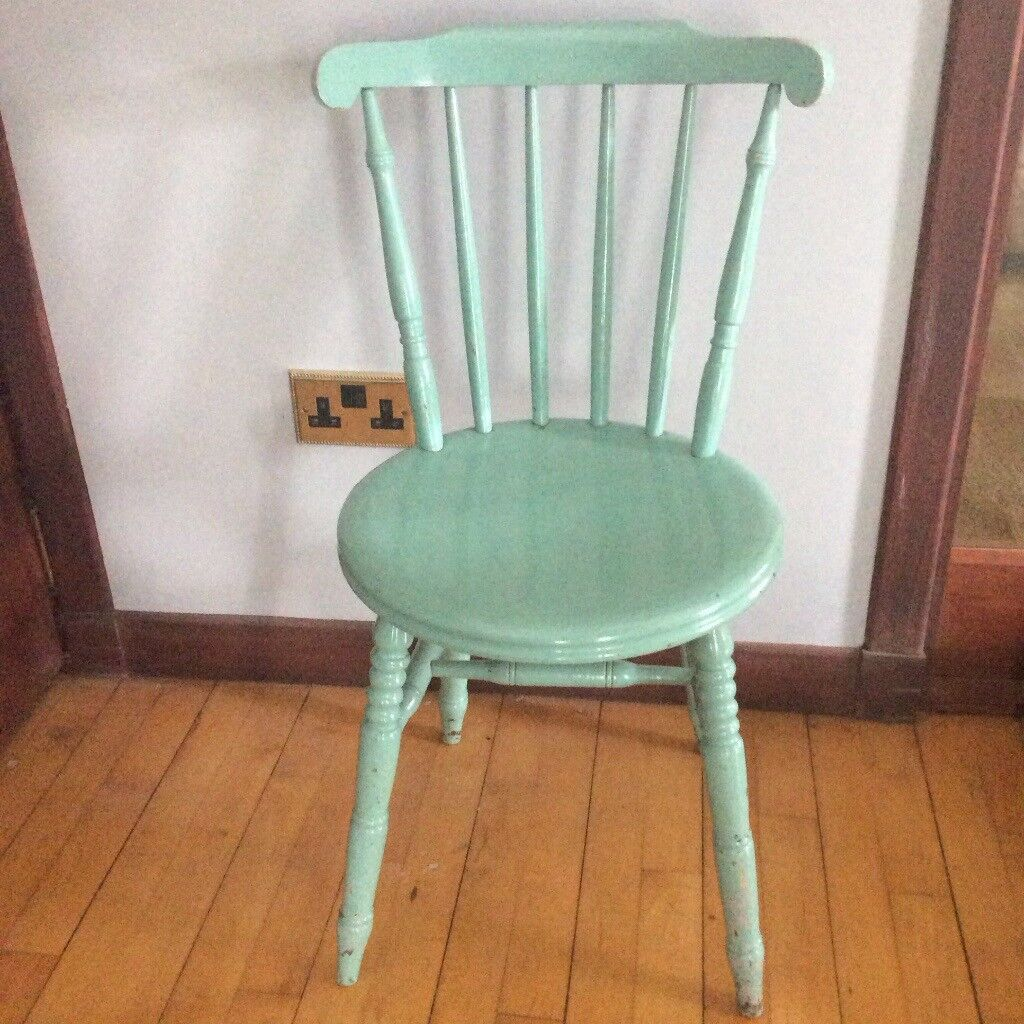Awesome Vintage Painted Wooden Chair In Ellon Aberdeenshire Gumtree Home Interior And Landscaping Oversignezvosmurscom