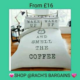 Smell the coffee duvet set