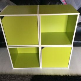 For Sale set of 4 Lime green storage cubes cupboards kids bedroom £30 Ono pick up Paisley