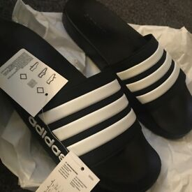 Men's new with tags, adidas sliders size 11UK