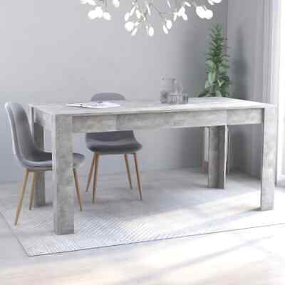 "vidaXL Dining Table Sleek Modern Concrete Gray 63"" Chipboard Kitchen Dinner"