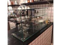 Lincat glass display cabinet cafe/deli