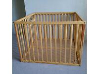 Playpen: Great wooden playpen 91x91x66cm in good condition!