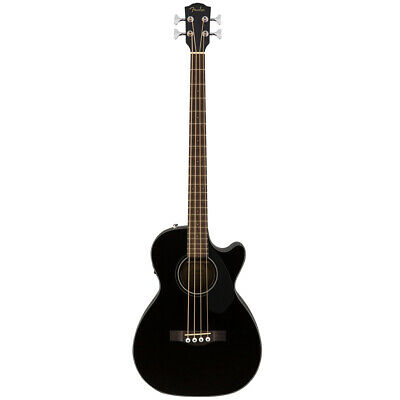 Fender CB-60SCE Cutaway Acoustic Electric Bass Guitar - Black