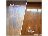 Wood floor sanding & polishing and floor installation