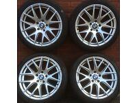 18 inch Phoenix alloy wheels & tyres bmw 3 4 5 series F30 E90 E91 F31 F10 F11 alloys split rims 19