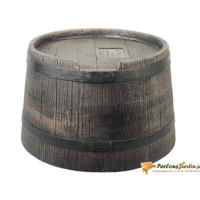 Nature Rain Butt Stand with Wood Look 30.5x58cm Brown Water Barrel Storage Tub