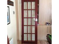 Internal hard wood doors with glass