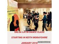 SALSA LATIN DANCING starting @Keith Railway Club January 2018