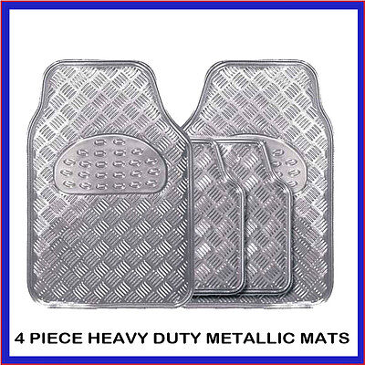 PEUGEOT 308 ALL MODELS CHECKER STYLE SILVER CAR MATS SET 4PC