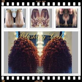 Hair extensions by blushing locks