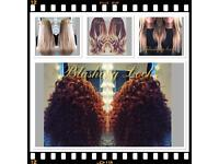 Hair extensions by blushing locks