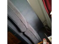 free to collector grey sofa , need gone asap, comfortable, with cushions