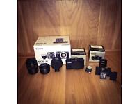 Canon eos-m with extras