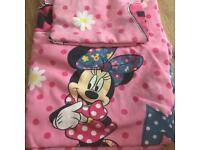 Minnie Mouse toddler bed set
