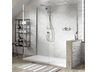 Matki blade shower mixer, riser,head Enclosure and tray not included