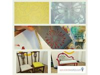 Furniture Upcycling Class – Upholstery and Fabric Printing
