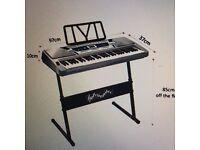 Pitchmaster 61 Key Silver Electronic Music Piano Keyboard