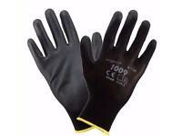 24x PU Coated Work Gloves Nylon Safety PPE Rubber Builder Gardening Engineering Brite Direct Ltd.