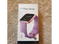 Fitbit Versa Special Edition Smart Watch - Lavender Woven / Rose Gold Aluminium