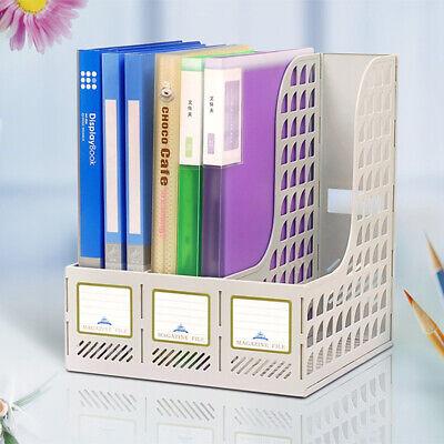 3 Shelf Magazine Publication Filing Trays Storage Box Divider File Holders