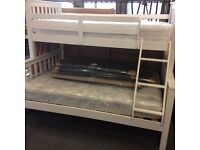 Brand New White Triple Sleepers Bunk Bed with Fast Free Delivery