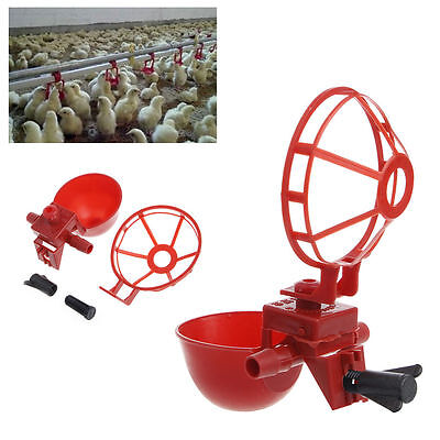 New 5 Pack Poultry Water Drinking Cups- Plastic Chicken Hen Automatic Drinker