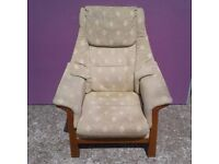 Marriots Green with White Diamonds Armchair (W)