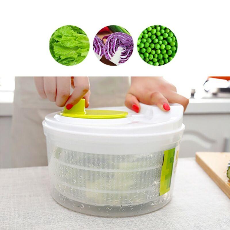 Salad Spinner Large 5 Quarts Fruits Vegetables Dryer Quick D