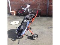 Junior Golf Trolley and Bag