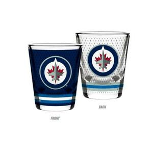 Winnipeg Jets 2 Ounce Jersey Style Collectors Glass (New Alberta Preview