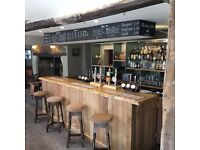 Full time Bar/Waiting Experienced Staff needed for popular village pub in Letcombe Regis