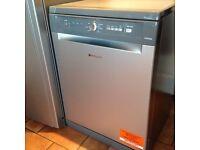Brand new full size Hotpoint graphite dishwasher