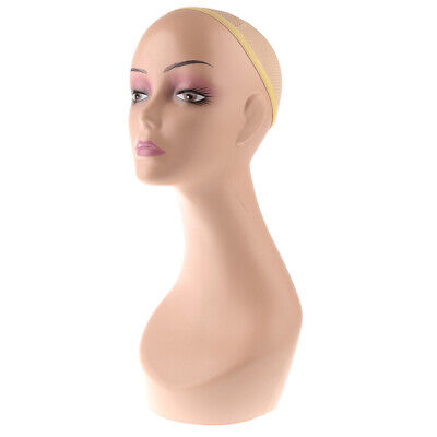 Lady Mannequin Head Bust Wig Hat Jewelry Display Model Stand Manikin Display