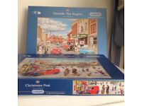 A large selection of jig saw puzzles. All in excellent condition