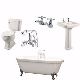Complete Traditional Bathroom inc Freestanding Bath + Taps £549